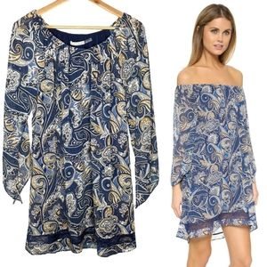 Alice + Olivia Cari Paisley Off The Shoulder Dress
